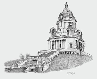 Drawing - Ashton Memorial by Patricia Hiltz