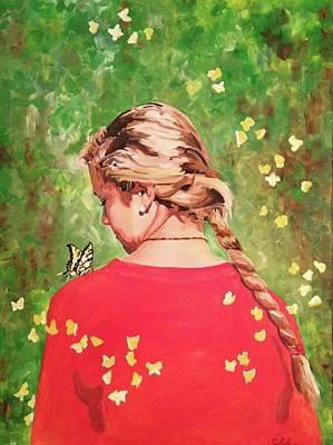 Painting - Ashton's Butterflies by Sarah LaRose Kane