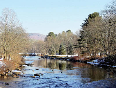 Photograph - Ashuelot River February Scene by MTBobbins Photography