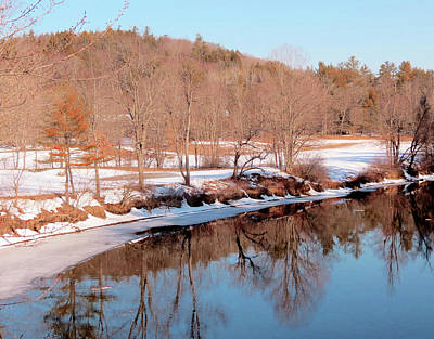Photograph - Ashuelot River Reflections In February by MTBobbins Photography