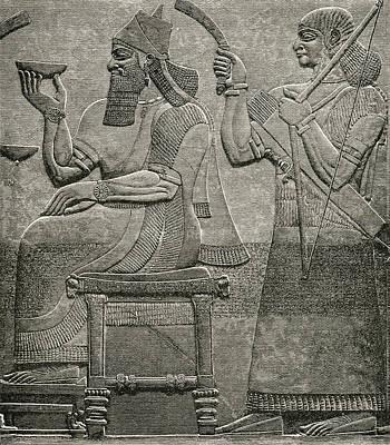 Pals Drawing - Ashur-nasir-pal II. King Of Assyria by Vintage Design Pics