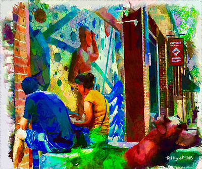 Painting - Ashville Art District by Ted Azriel