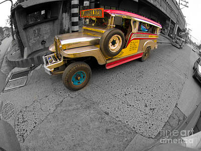 Photograph - Asia Philippines Jeepney 6272537sc by Rolf Bertram