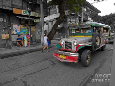 Photograph - Asia Philippines Jeepney Sari Sari Store 6282092sc by Rolf Bertram