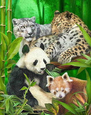 Mixed Media - Asia Wild by Carol Cavalaris