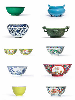 Photograph - Asian Art Chinese Pottery by Celestial Images