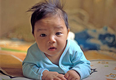 Photograph - Asian Baby by Atul Daimari