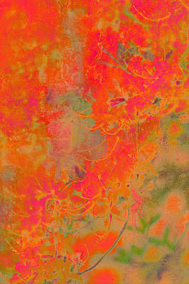 Photograph - Asian Brush Painting Style Of Azalea Flowers by Suzanne Powers
