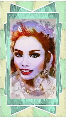 Portaits Mixed Media - Asian Culture Pop Art Girl by Ian Gledhill