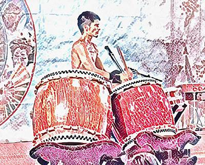 Photograph - Asian Drummer by Dorothy Berry-Lound