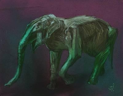 Digital Art - Asian Elephant by Jim Vance