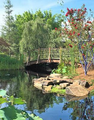 Photograph - Asian Garden Bridge by Kay Gilley