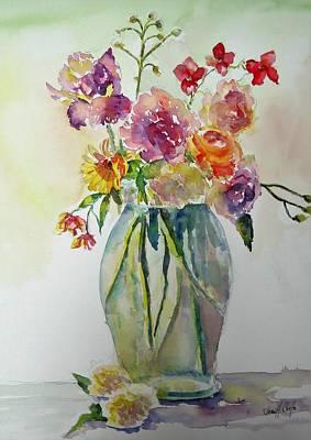 Floribunda Painting - Asian Inspired by Jean Costa