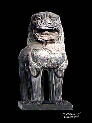 Asian Lion Jgibney The Museum Art Print by The MUSEUM Artist Series jGibney