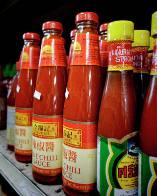 Photograph - Asian Market Hot Chili Sauce by Ann Powell