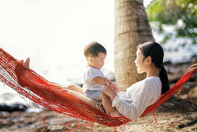 Photograph - Asian Mother And She Talking Your Son. by Anek Suwannaphoom