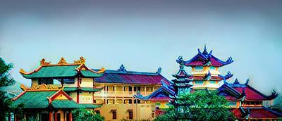 Mixed Media - Asian Skyline by Joseph Hollingsworth