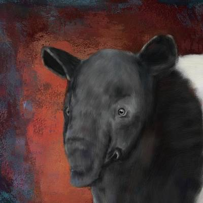 Painting - Asian Tapir by Mandy Tabatt