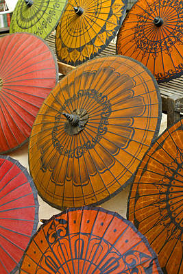 Asian Umbrellas Art Print