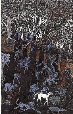 Asil In Shitaki Forest Art Print