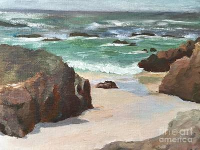 Painting - Asilamor Beach Monterey Ca by Claire Gagnon