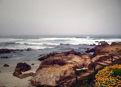 Numbers Plus Photograph - Asilomar Beach Pacific Grove Ca Usa by Joyce Dickens
