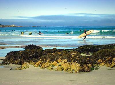 Photograph - Asilomar Surfers 07 04 15 by Joyce Dickens