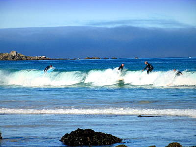 Photograph - Asilomar Surfers 07 04 15 Three by Joyce Dickens