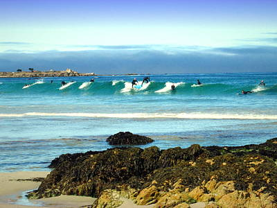 Photograph - Asilomar Surfers 07 04 15 Two by Joyce Dickens