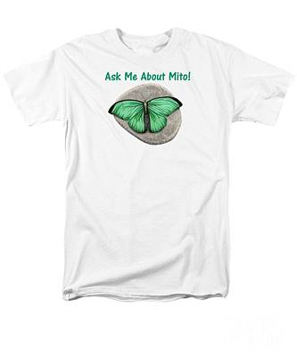 Meditation Drawing - Ask Me About Mito T-shirt Or Tote Bag by Sarah Batalka