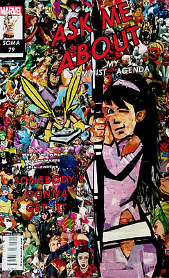 Mockingbird Digital Art - Ask Me About My Feminist Agenda Collage by Soma79