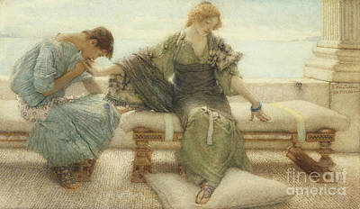 Marble Painting - Ask Me No More....for At A Touch I Yield by Sir Lawrence Alma-Tadema