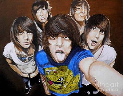 Rock Groups Painting - Asking Alexandria by Al  Molina