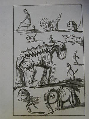 Ask A Friend Drawing - Asking For Directions by Paula  Heffel