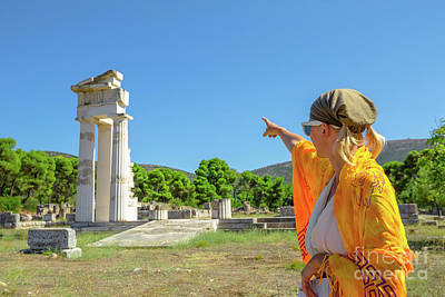 Photograph - Asklepieion Temple Tourist by Benny Marty