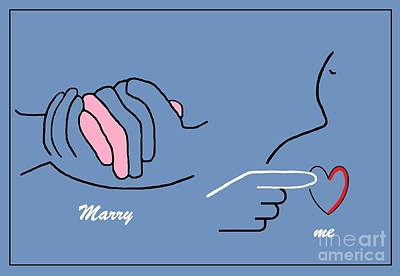 Asl Marry Me Art Print by Eloise Schneider