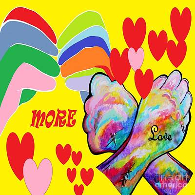 Heart Painting - Asl More Love by Eloise Schneider