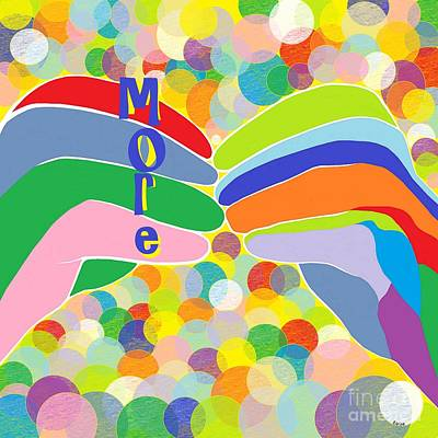 American Painting - Asl More On A Bright Bubble Background by Eloise Schneider