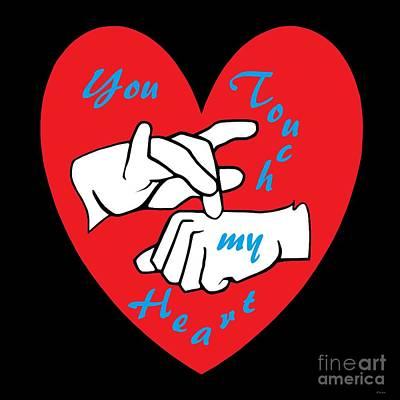 Asl You Touch My Heart Art Print by Eloise Schneider
