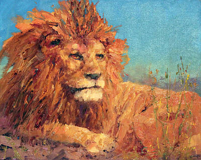 Painting - Aslan by Marie Green