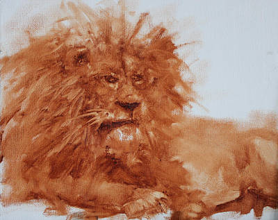 Painting - Aslan Underpainting by Marie Green
