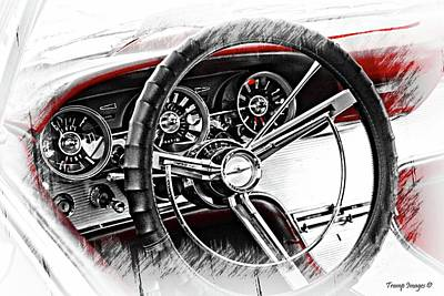 Digital Art - Asleep At The Wheel by Wesley Nesbitt