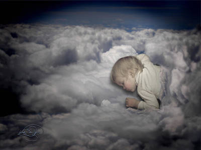 Asleep In The Clouds Art Print
