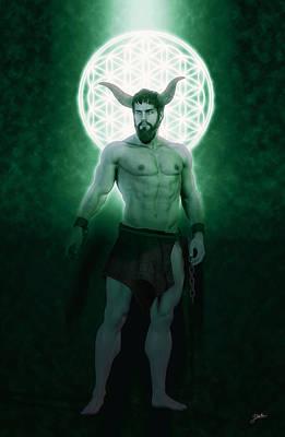Human Beings Digital Art - Asmodeus, Pleasing Demon by Joaquin Abella