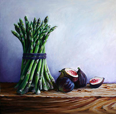Asparagus And Figs Original by Abra Johnson