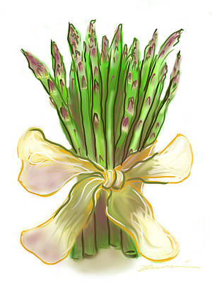 Asparagus Digital Art - Asparagus Bouquet by Jean Pacheco Ravinski