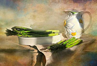 Still Life With Pitcher Photograph - Asparagus by Diana Angstadt