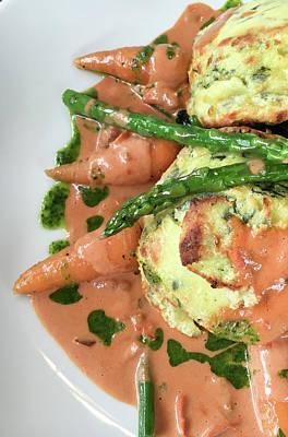 Upscale Photograph - Asparagus Dish by Tom Gowanlock