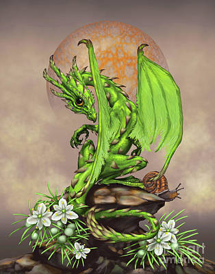 Asparagus Digital Art - Asparagus Dragon by Stanley Morrison