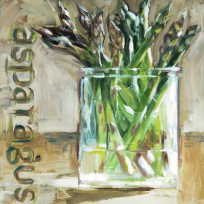 Asparagus Painting - Aspargus by Annie Salness